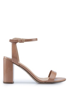 25f7bf0ee Dorothy Perkins pink and beige Wide Fit Nude Shimmer Block Heels  4DE38SHF51C2A1GS 1