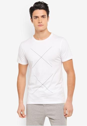 ZALORA white X Printed Graphic Tee 1B3C5AAE77540FGS_1