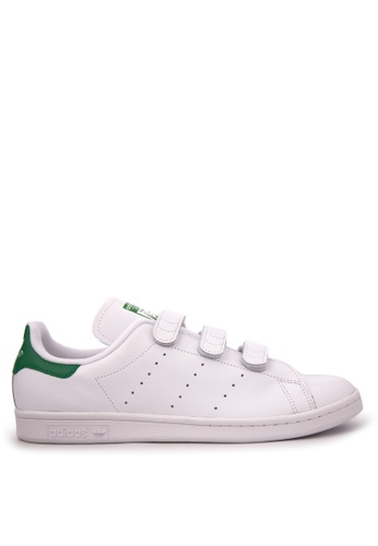 uk availability dc3ba d62aa adidas white and green adidas originals stan smith cf AD372SH99WUMMY 1