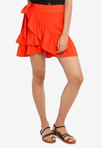 572fe3c24a Buy TOPSHOP Linen Ruffle Wrap Mini Skirt Online on ZALORA Singapore