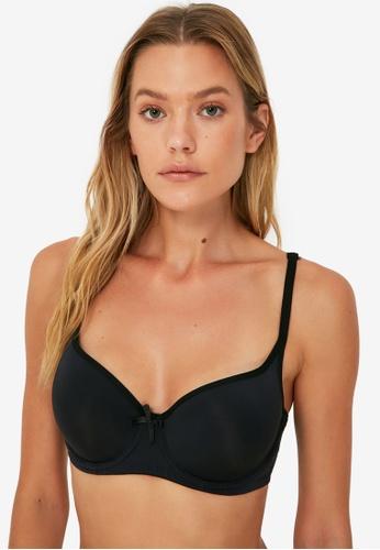 Trendyol black Unfilled T-Shirt Bra 4AB21US9352983GS_1