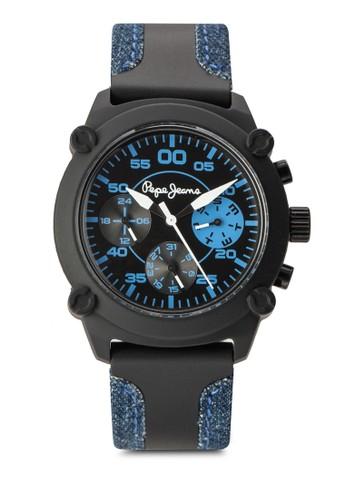 R235110800esprit台灣outlet2 Steve 計時矽膠圓錶, 錶類, 飾品配件