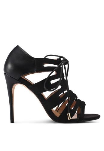 ZALORA 黑色 交叉綁帶高跟鞋 A8794SH7105730GS_1