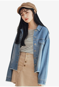bd9dbd5f00c Tokichoi blue Raw Hem Double Pocket Denim Jacket 4A42DAA7DB3537GS 1 30% OFF  Tokichoi Raw Hem Double Pocket Denim Jacket RM 239.00 NOW RM 166.90 Sizes  One ...