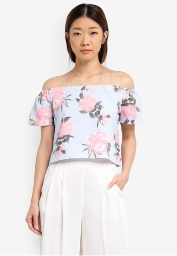 Something Borrowed blue Off Shoulder Top 35008AA7E59A65GS_1