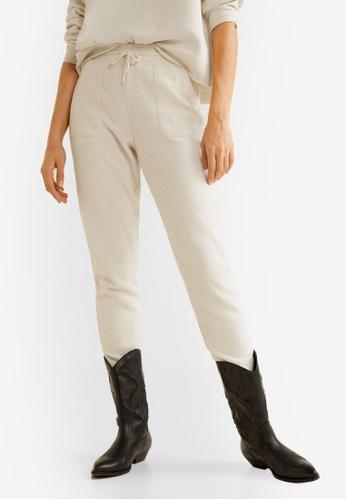 Mango grey Flecked Jogging Trousers 8FB7EAA053FF85GS_1