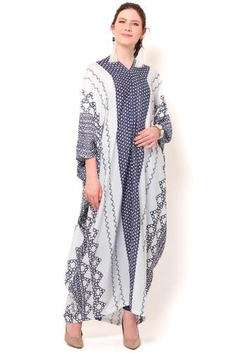 Kanzi by liza yahya blue Kanzi Exclusive Long Sleeve Classic Kaftan 77D22AA3A15AA7GS_1