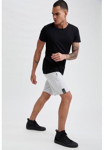 DeFacto beige Slim Fit Sweatshirt Bermuda Shorts D879FAA91ADCF4GS_1
