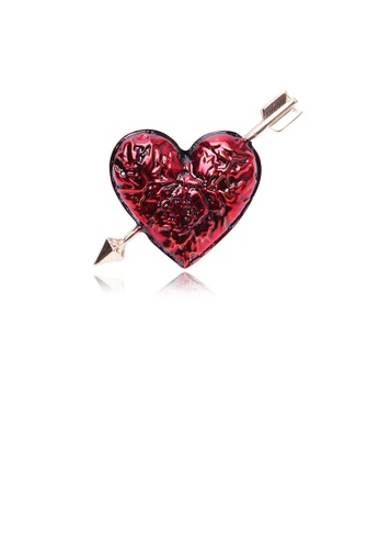 Glamorousky silver Fashion Simple Plated Gold Heart-shaped Brooch 0DA17AC6BB6CFDGS_1