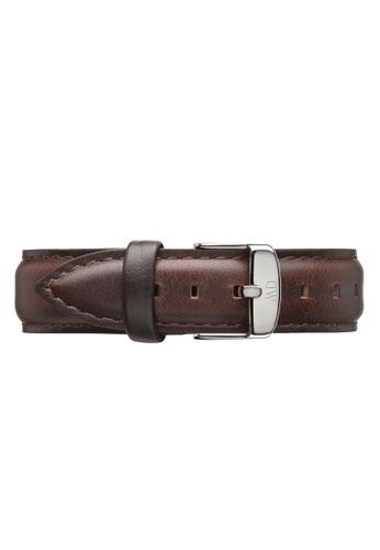 Daniel Wellington brown Classic Bristol-Strap Silver 18mm DA376AC27PWYMY_1