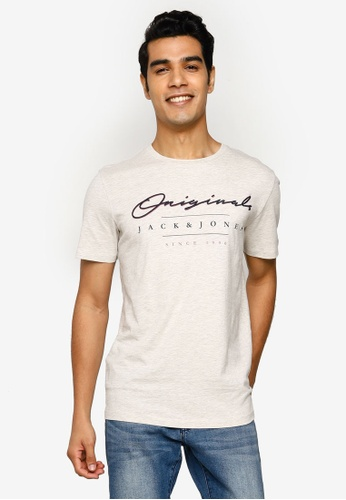 Jack & Jones white Marius Crew Neck Tee 74628AAF78727FGS_1