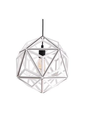 Qualy Qualy Icosa Wireframe Pendant Lamp (White) 10B1FESE39F5EAGS_1