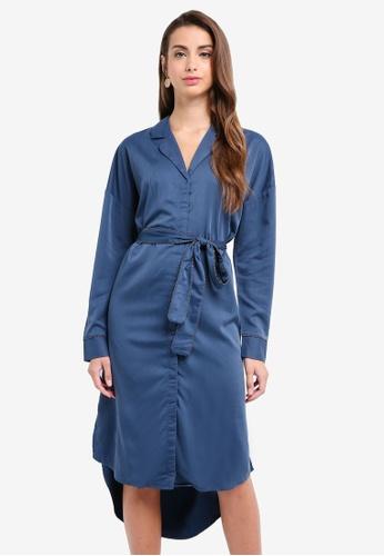 Selected Femme blue Leonora Shirt Dress 305ADAA9622157GS_1