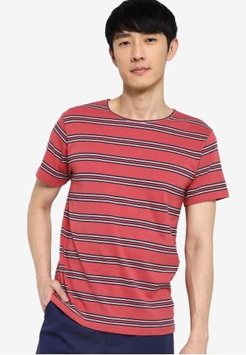 ZALORA BASICS multi Stripe Wide Neck T-Shirt A1490AA1B5DCD7GS_1