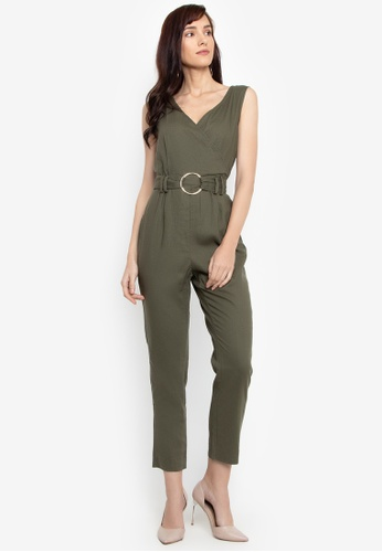 8339ee5b09d0 Shop Cortefiel Plain Jumpsuit With Belt Online on ZALORA Philippines