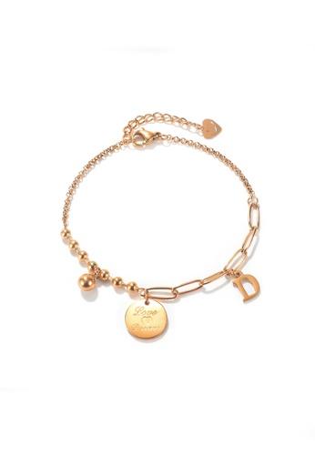 CELOVIS gold CELOVIS - Reverie Disc Pendant Chain-Link Bracelet in Rose Gold 444F5AC0CA0483GS_1