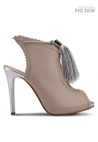 BETSY beige Peep Toe Ankle Strap Bootie Heels CF6E4SH4390A07GS_1