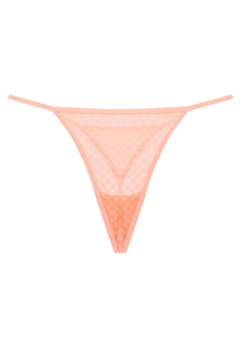 LAVABRA Intimates orange Very Sexy Panty - Melissa Sexy Floral Lace V String LA387US66PVLID_1