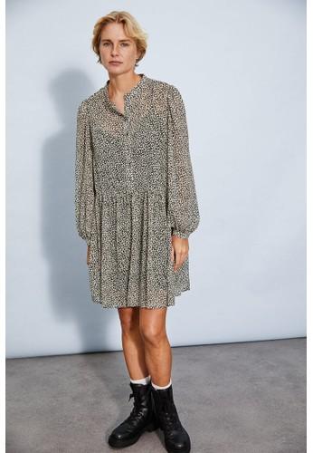 H&M black Wide dress 84C50AAC272F2EGS_1
