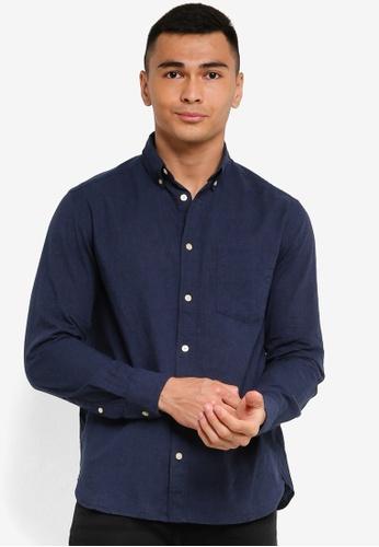 H&M blue Cotton Poplin Shirt 03BEEAA9758ECCGS_1