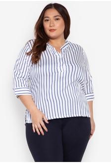 829b73b411cf7 Shop Maxine Plus Size Blouse Short Sleeves Crepe Rayon Online on ...