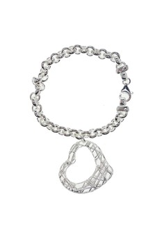 Art Deco Heart Bracelet