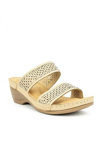 Cardam's Lifestyle beige CLS 95847 Beige Wedge Sandals 8753ESHB046006GS_1