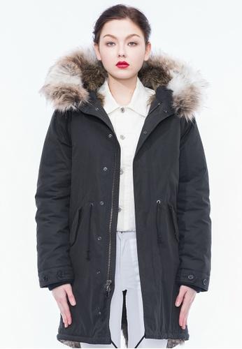 Alpha Style black Aida Faux Fur Padded Parka AL461AA0GYH5SG_1