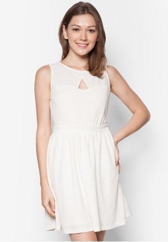 Shontelle 鏤空束腰esprit 會員卡洋裝, 服飾, 洋裝
