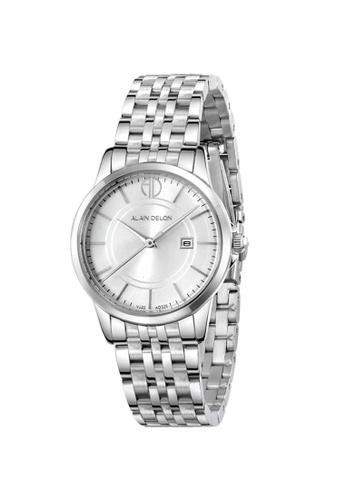 2135683e413 Alain Delon silver Alain Delon Women AD328-2312 Silver Stainless Steel Watch  17485AC73819B2GS_1