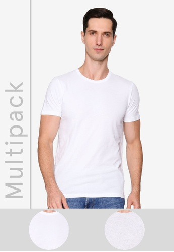 Abercrombie & Fitch multi Multipacks 2-Packs Icon Crew T-Shirts FCF6AAA04CFCDEGS_1