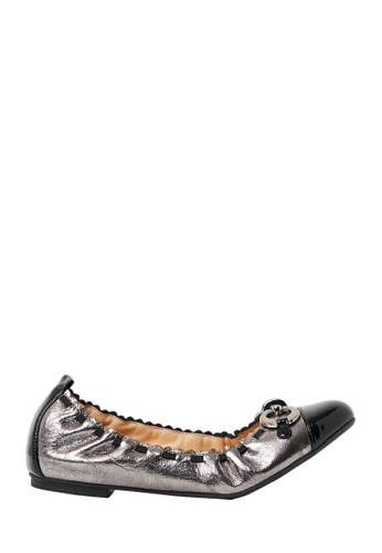 Nina Armando silver Bree Leather Ballet Flats NI342SH0FV8JSG_1