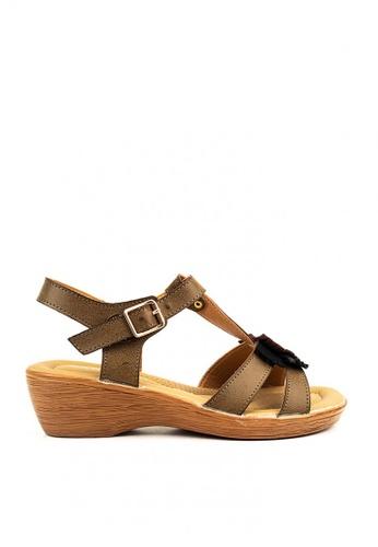 Cardam's Lifestyle brown Shandria Flat Sandals 72A99SH78CA27FGS_1