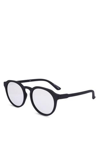 Rubi black and silver Emerson Preppy Sunglasses 832F3GL8A942C8GS_1