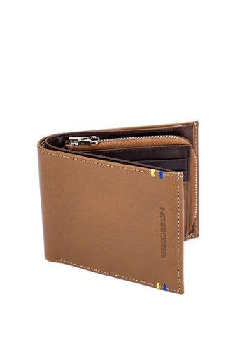 ENZODESIGN brown Italian Leather Wallet with Zip Coin Compartment K18CM-XPH EC0DFACB424FDFGS_1
