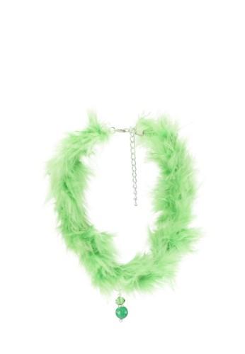 La Maison D'Evolette green Lemongrass Swan Choker With Vert Agate Gemstone 40E5DAC63F82B6GS_1