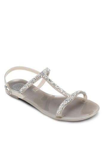 Santadesprit 寢具ria 閃飾T 字帶涼鞋, 女鞋, 鞋