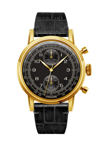 Undone black and multi and gold Undone Vintage Navi Watch  UN712AC2VEJ8HK_1