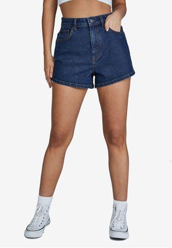 Cotton On blue Stretch A-Line Denim Shorts F5355AA725348DGS_1