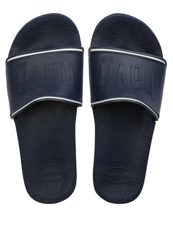 Havaianas blue Slide Flip Flops D0377SH58AAFECGS_1