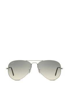 aefdde22ffb Ray-Ban grey Aviator Large Metal RB3025 Sunglasses RA370GL46SABSG 1