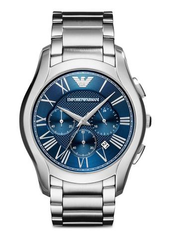 ARMANI silver Armani Valente Silver Watch AR11082 AR024AC0SM44MY_1