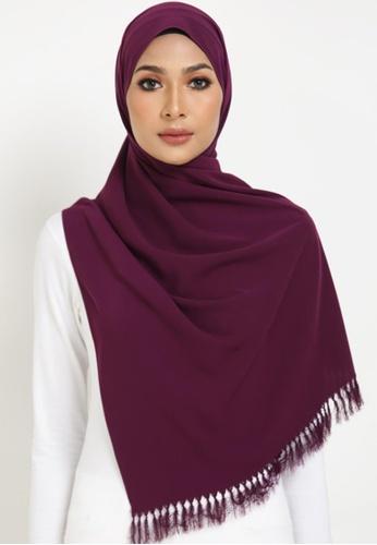 RohsMalaysia purple MEDINA SHAWL DEEP PURPLE C6A9DAACDF64F6GS_1
