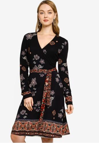 Desigual black Wrap Belt Dress 000D7AAEC353DFGS_1