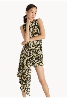fa3af055c8d Mini Asymmetric Ruffle Dress - Yellow 34053AAA7BE232GS 1