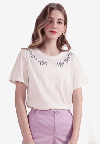 Eyescream white Embroidered Tee D77F8AAD14BEE7GS_1
