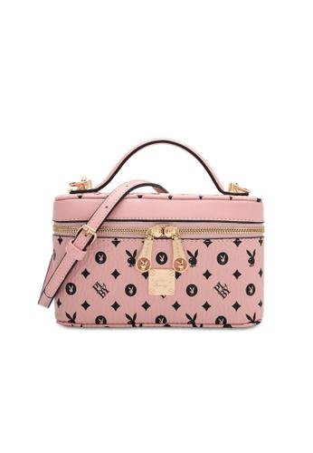 PLAYBOY BUNNY pink Women's Hand Bag / Top Handle Bag / Shoulder Bag A6852AC384ADE4GS_1