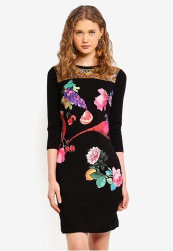Desigual black Vanity Dress 20BDAAA135696DGS_1