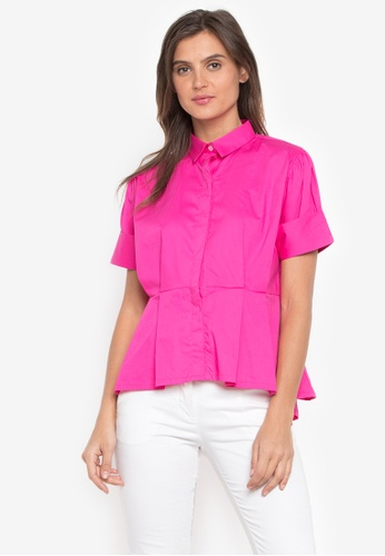 CANVAS pink Highlow Peplum Boxy  Blouse FA098AAA39A68CGS_1