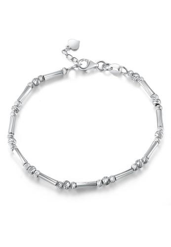 MaBelle silver 14K/585 White Color Gold Gold Beads Bracelet 42C3FACC32F663GS_1